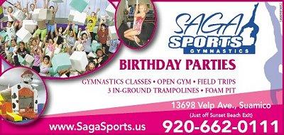 Birthday Parties Saga Sports Green Bay W