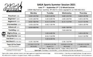 SAGA Sports Summer Session 2021